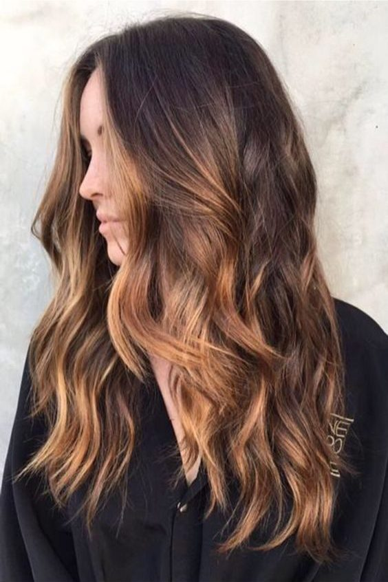 Warm caramel highlights