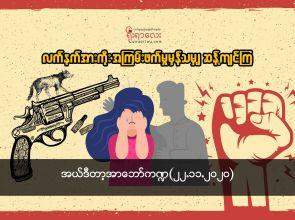 လက်နက်အားကိုး အကြမ်းဖက်မှုမှန်သမျှ ဆန့်ကျင်ကြ
