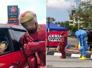 ကပ်ရောဂါအတွင်း Iron Man လိုဝတ်ပြီးပြောင်းဖူးဖျော်ရည်ရောင်းနေရတဲ့ ကုမ္ပဏီဝန်ထမ်းဟောင်း